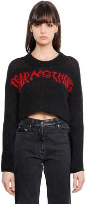 McQ Fear Nothing Wool Cropped Sweater