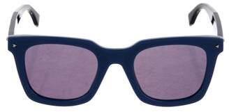 Fendi Mirrored Wayfarer Sunglasses w/ Tags