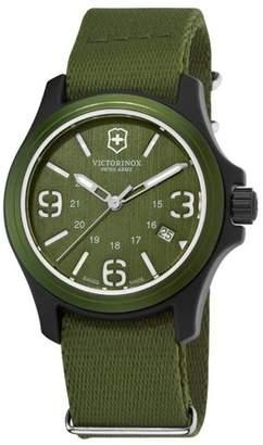Victorinox Unisex Original Resin Watch With Green Nylon Band 241514