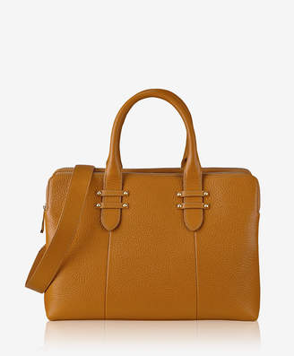 GiGi New York Parker Satchel Tan Pebble Grain