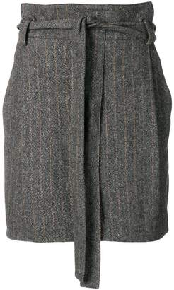 Ulla Johnson belted herringbone mini skirt