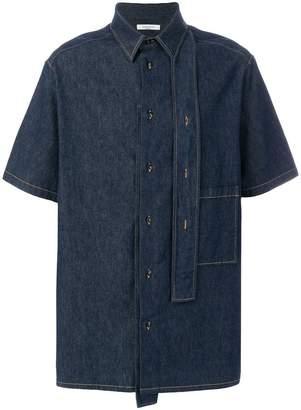 Valentino contrast stitch denim shirt