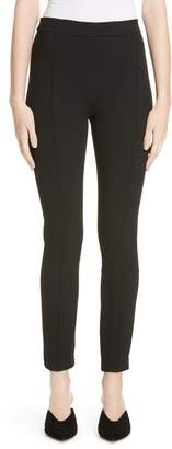 Rosetta Getty Pintucked Pull-On Skinny Jersey Pants
