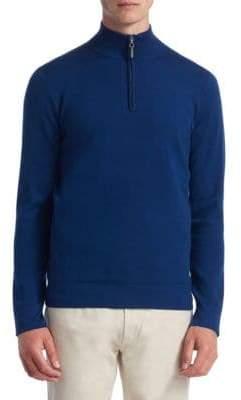 COLLECTION Tech Merino Wool Quarter-Zip Sweater