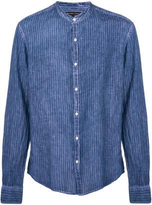MICHAEL Michael Kors striped mandarin-collar shirt