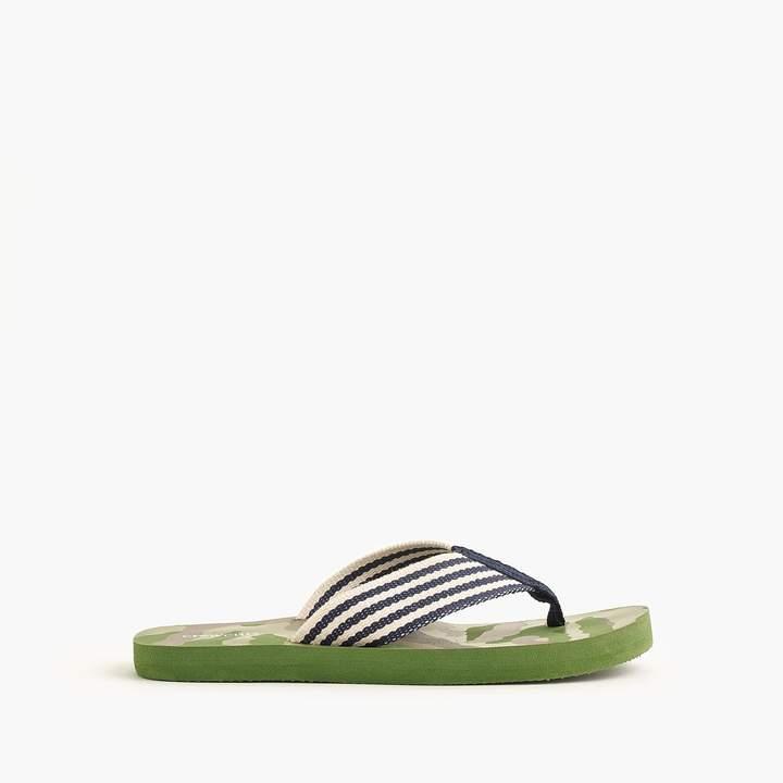 Boys' flip-flops in camo