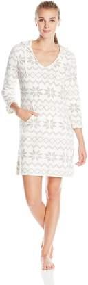 Nautica Sleepwear Women's Plush Hoodie Chemise