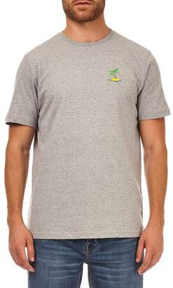 Burton Grey Marl T-Shirt With Palm