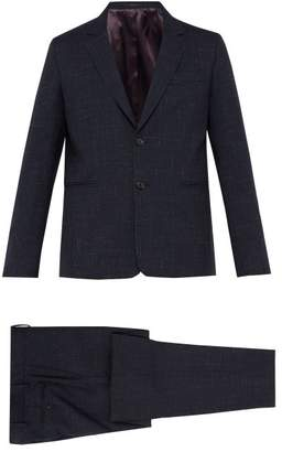Paul Smith Soho Tailored Fit Check Wool Blend Suit - Mens - Blue Multi