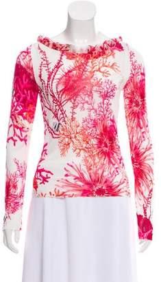 Blugirl Coral Print Knit Top