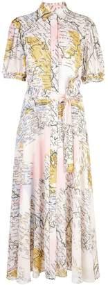 Derek Lam 10 Crosby map print shirt dress