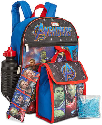 Bioworld Little & Big Boys 5-Pc. Avengers Backpack & Lunch Kit Set