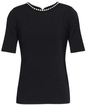 Alexander Wang Crystal-embellished Stretch-knit Top