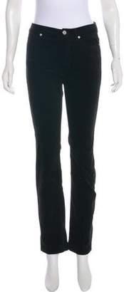 Rebecca Taylor Velvet Straight-Leg Pants