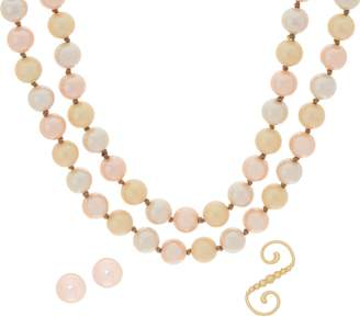 """Carolee Downtown Drama 70"""" Simulated Pearl Rope Necklace Set"""