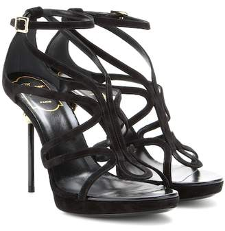 Roger Vivier Ondulation suede sandals