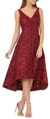 JS Collections Pinwheel Soutache High/Low Gown