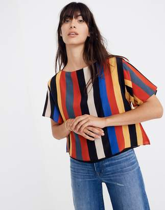 Madewell Whit Silk Neil Tee in Camera Stripe