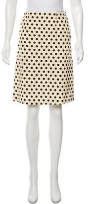 Rochas Polka Dot Knee-Length Skirt