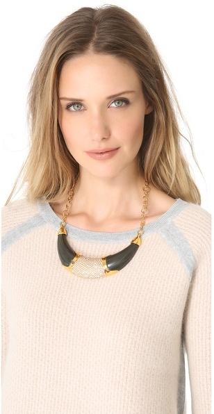 Kara Ross KARA by Resin Collar Necklace with Inlay