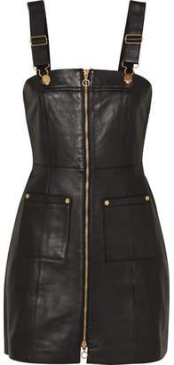 Alice McCall Cherry On Baby Leather Mini Dress - Black