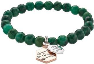 "Love This Life love this life African Jade Bead ""Live Laugh Love"" Arrow Charm Stretch Bracelet"
