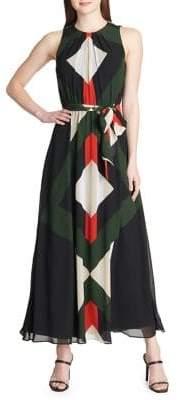 Calvin Klein Sleeveless Printed Maxi Dress