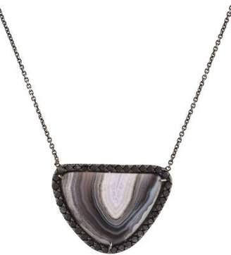 Kimberly McDonald 18K Agate & Diamond Pendant Necklace