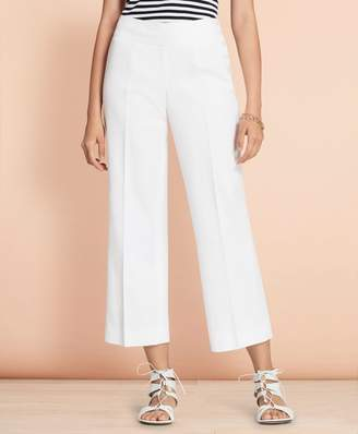 Brooks Brothers Linen-Cotton Wide-Leg Cropped Pants