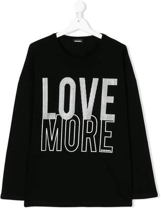 Diesel TEEN Love More print top
