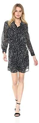 Lucky Brand Women's Printed Tie Front Dress