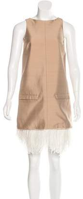 Alessandro Dell'Acqua Feather-Accented Mini Dress