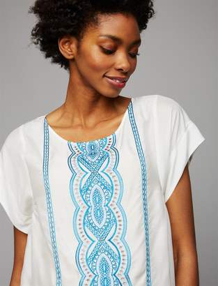 Ella Moss Pea Collection Embroidery Maternity Top