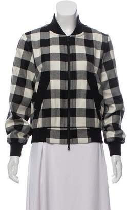 Milly Virgin Wool Plaid Bomber w/ Tags