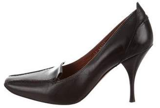 Donald J Pliner Pointed Square-Toe Leather Pumps