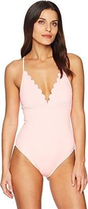 LaBlanca La Blanca Women's V-Neck Strappy Back One Piece Swimsuit