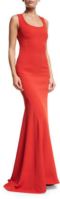 St. John Collection Crisscross-Back Sleeveless Gown, Red $1,595 thestylecure.com