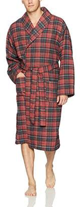 Fruit of the Loom Men's Flannel Lounge Robe