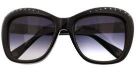 Oscar de la Renta 54MM Swarovski-Adorned 54MM Rectangle Sunglasses
