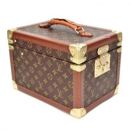 Louis Vuitton very good (VG Monogram Boite Flacons Beauty Vanity Trunk with Removable Mirror Box