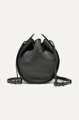 The Row Textured-leather Bucket Bag - Dark green