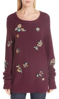 Cinq à Sept Tania Embellished Wool & Cashmere Blend Sweater