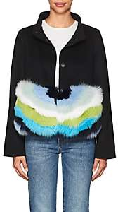 Barneys New York Women's Fur-Trimmed Wool-Cashmere Coat - Black