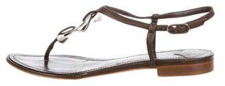 Chanel CC Thong Sandals