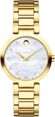 Movado Modern Classic Diamond Bracelet Watch, 28mm