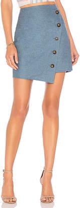 J.o.a. Angle Buttoned Mini Skirt