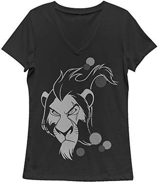 Fifth Sun Women's Lion King Scar Tribal Graphic V-Neck Tee
