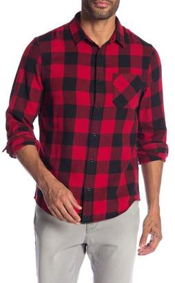 Public Opinion Long Sleeve 1-Pocket Regular Fit Flannel Shirt
