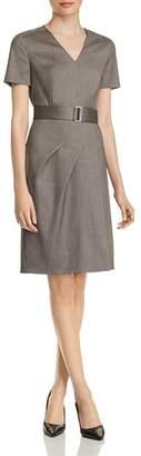 BOSS Dasuala Virgin Wool Short-Sleeve Dress