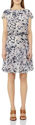 REISS Annah Tiered Printed Dress $350 thestylecure.com